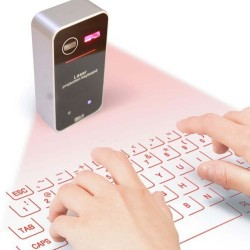 Clavier anglais virtuel Bluetooth Laser Projection avec fonction mouse
