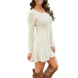 Casual Plus Size Kurzes Strickpullover Kleid