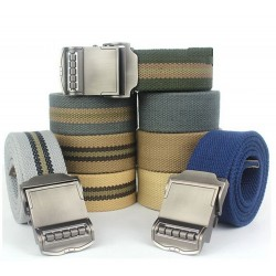Casual Metalen Gesp Canvas Heren Riem 110 cm