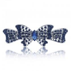 Bowknot Butterfly Crystal Gracious Hair clip Barrette Hairpin Accessories Hair Jewelry For Woman Gir