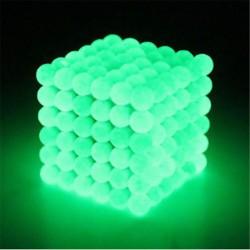 Bolas de Neodimio Magnéticas 5 mm 216 piezas Glow in the Dark