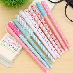 Kwiatowy Design Kolorowe Żelowe Długopisy 10szt