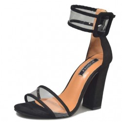 Transparent Buckle Strap High Heel Sandals