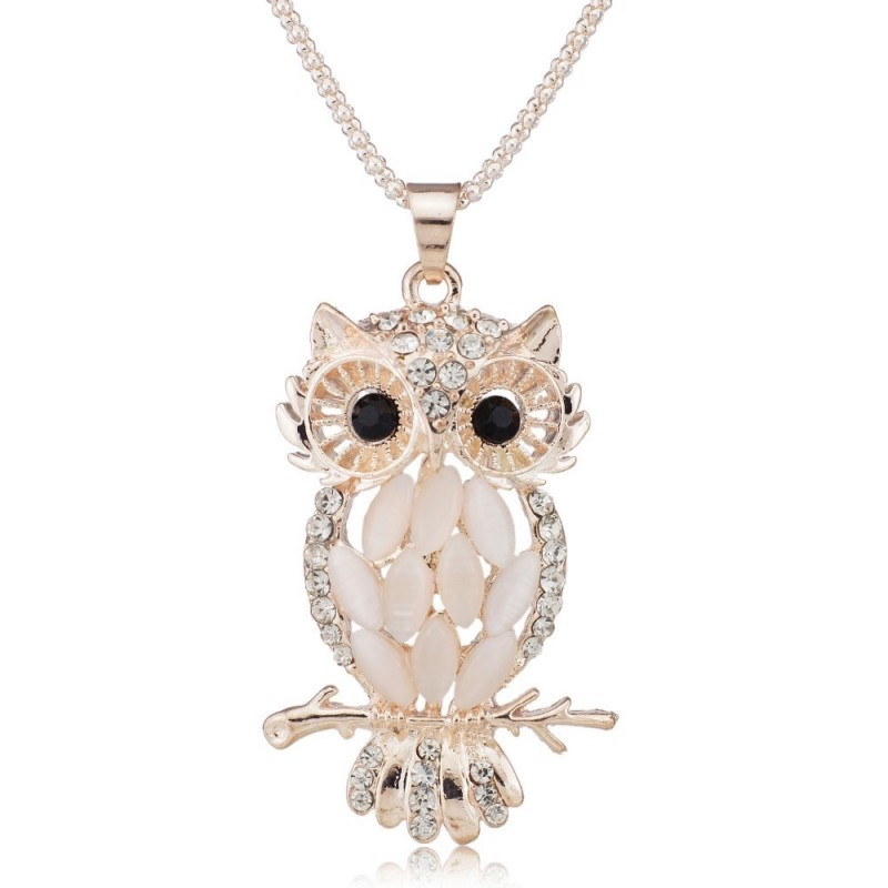 Stylish gallant sparkling owl crystal charming flossy necklaces pen stylish gallant sparkling owl crystal charming flossy necklaces pendants necklace for women m099 aloadofball Gallery