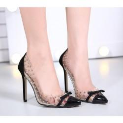 Zapatos con Tacón Transparentes en PVC