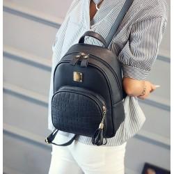 Damski modny skórzany plecak