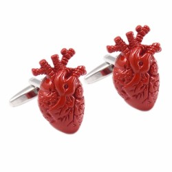 Heart Organ Design Cufflinks