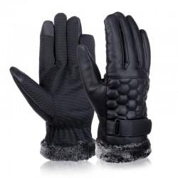 Retro Verdickt Leder Touchscreen Anti-Rutsch Handschuhe