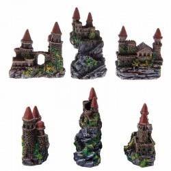 Akwariowa Dekoracja Żywiczna Wieża Zamek