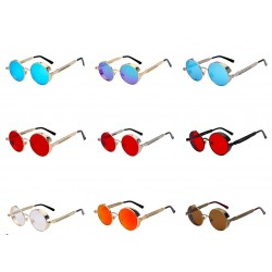 Round Metal Steampunk Retro Vintage Unisex Sunglasses UV400