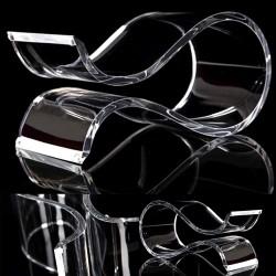 Uniwersalny Akrylowy Stojak Uchwyt Wieszak Zestawu Słuchawkowego