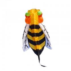 Cometa coloreada abeja de nylon 3 metros