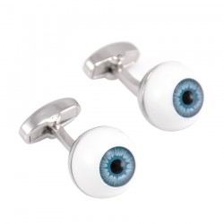 Blue Eyeballs Cufflinks