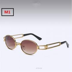 Gafas de sol retro unisex steampunk redondos UV400