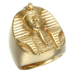 Bague dorè pharao egyptien