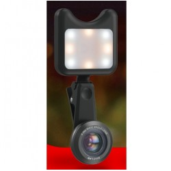 iPhone 3 in 1 Kamera Weitwinkel - Makro-Objektiv mit LED-Licht