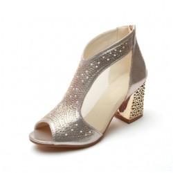 Eleganckie Błyszczące Botki Sandały