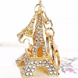 Crystal Eiffel Tower Keyring Keychain