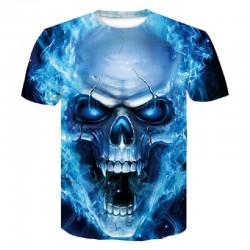 Männer 3D Schädel T-Shirt