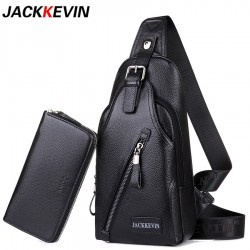 Men's Genuine Leather Crossbody Bag