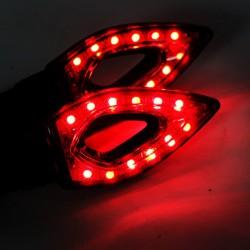 Wasserdichte Universal 12 LED Motorrad Blinker Anzeigen Lichter 2pcs