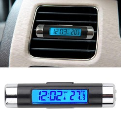 2 in1 Auto LCD Clip-on Digitales Temperatur Thermometer