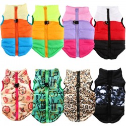 Warm Dog Clothes For Small Dog Windproof Spring Pet Dog Coat Jacket Padded Clothes Puppy Outfit Vest