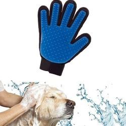Guante para masajar y limpiar el pelo para perros