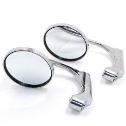 Specchietti retrovisori universali per moto cromati