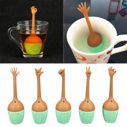 Zaparzacz do herbaty w kształcie gestów dłoni - sitko silikonowe