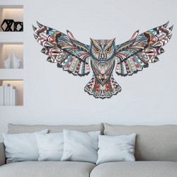 Colorful owl removable vinyl wall sticker