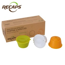 Nescafe - Dolce Gusto - reusable - refillable capsules - pods 3 - pieces