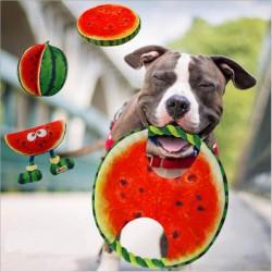 Frisbee jouet pour chien de corde pastèque 19 cm