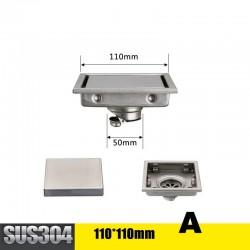 Free shipping Tile Insert Square Floor Waste Drain Bathroom Grates Shower Drain 304 Stainless Steel