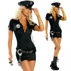 Police woman halloween costume uniform