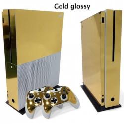 Xbox One S Konsol & Kontroler winylowa naklejka złota