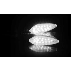 Lumières impermeàbles ambre pour moto universelles 12V LED 2 pcs