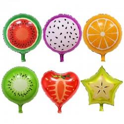 Globos deccorativos con forma de fruta para cumplaños 6 pcs