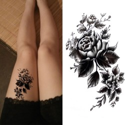 Flowers - body waterproof temporary tattoo - sticker