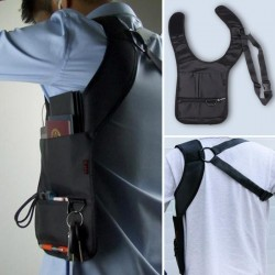 Nylon anti-theft hidden underarm shoulder bag