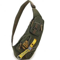 Waterproof nylon crossbody shoulder bag backpack