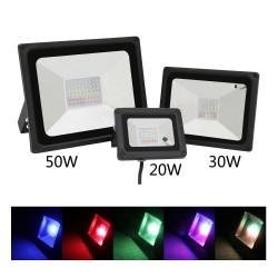 20W 30W 50W RGB LED lampa reflektor IP65 wodoodporna