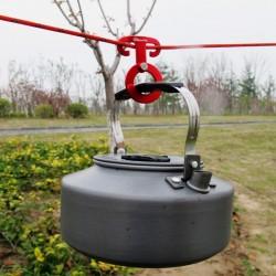 Multifunktions Outdoor Camping Aluminium Seilaufhänger Schnalle 5 Stück