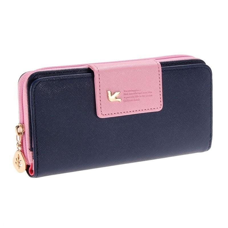 Long leather women's wallet