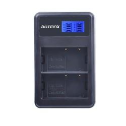 Caricabatterie Dual LCD USB per DMW-BLF19 BLF19E BLF19GK BLF19PP DMC-GH3 GH3A GH3AGK