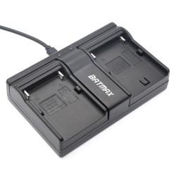 Chargeur double pour NP-F960 NP-F970 NP F930 SONY F950 F330 F550 F570 F750 F770 MC1500C HD1000C