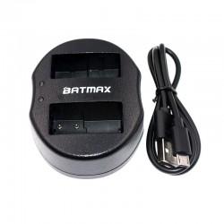 Cargador baterìa dual USB para DMW-BLC12 DMWBLC12 BLC12 BLC12PP Panasonic Lumix FZ1000 FZ200 FZ300 G5