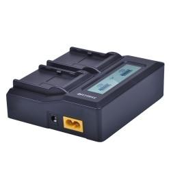 Caricabatterie rapid LCD dual li-Ion per Topcon BT 65Q BT65Q GTS 900 & GPT 9000