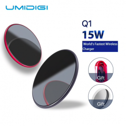 Samsung Galaxy S9 S8 S7 iPhone 8 / X / 8 Plus UMIDIGI Q1 15W bezprzewodowa szybka ładowarka