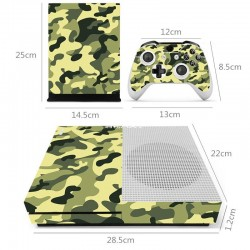 Xbox One S Console & Controller camouflage design vinyl decal skin sticker